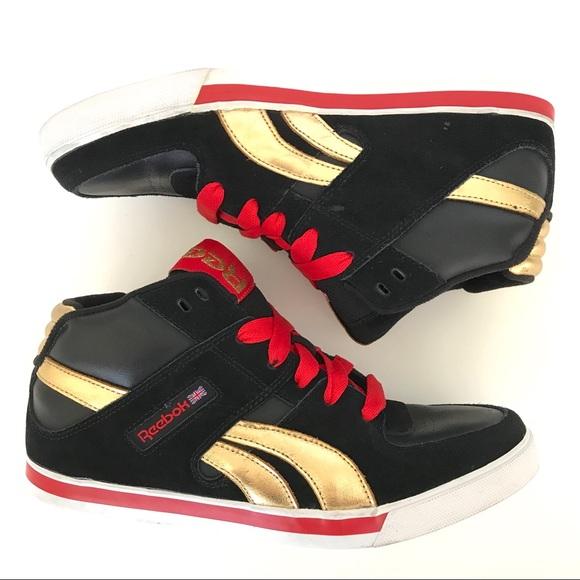 Reebok Mid Top Mens Sneaker Black Gold Res. M 5a721b638df470a791f86dca d42fecfc6